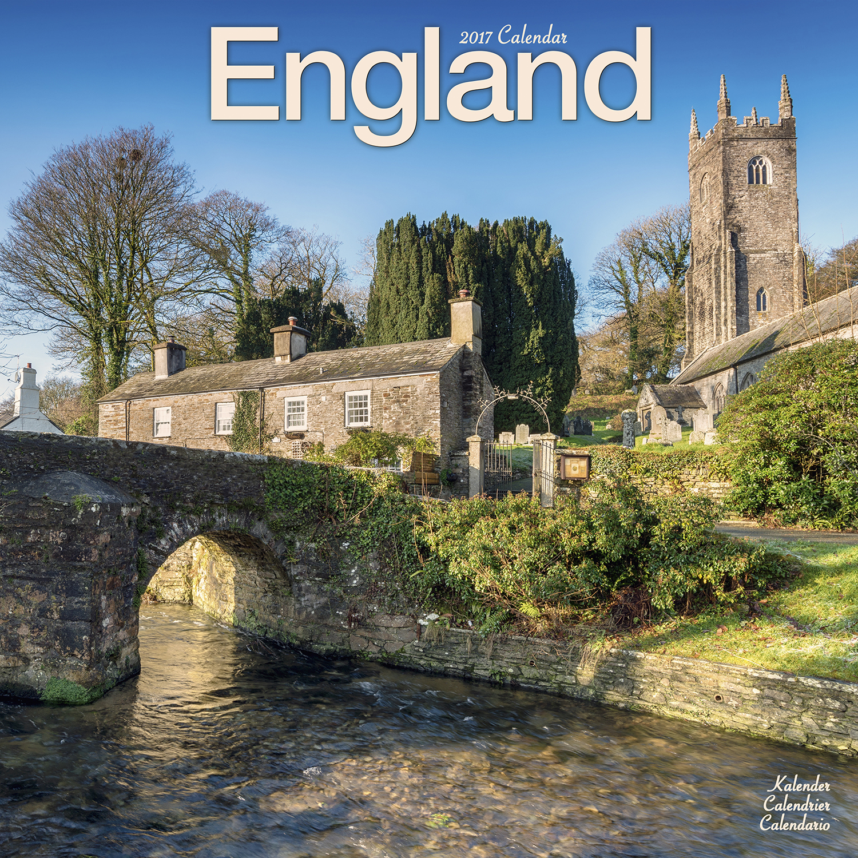 England Wall Calendar 2017