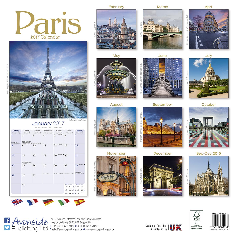Paris Calendar 2017 30251-17   Travel, Places, Scenery