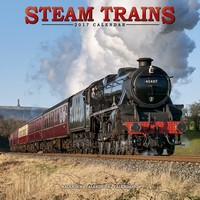 Steam Trains Wall Calendar 2017