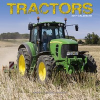 Tractors  Wall Calendar 2017