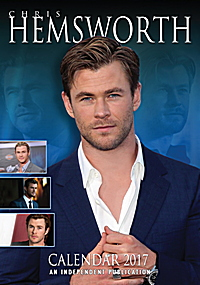 Chris Hemsworth Celebrity Wall Calendar 2017