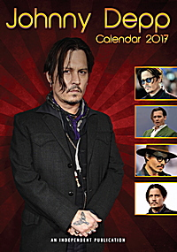 Johnny Depp Celebrity Wall Calendar 2017