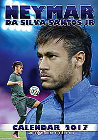 Neymar da Silva Sontos Jr Celebrity Wall Calendar 2017
