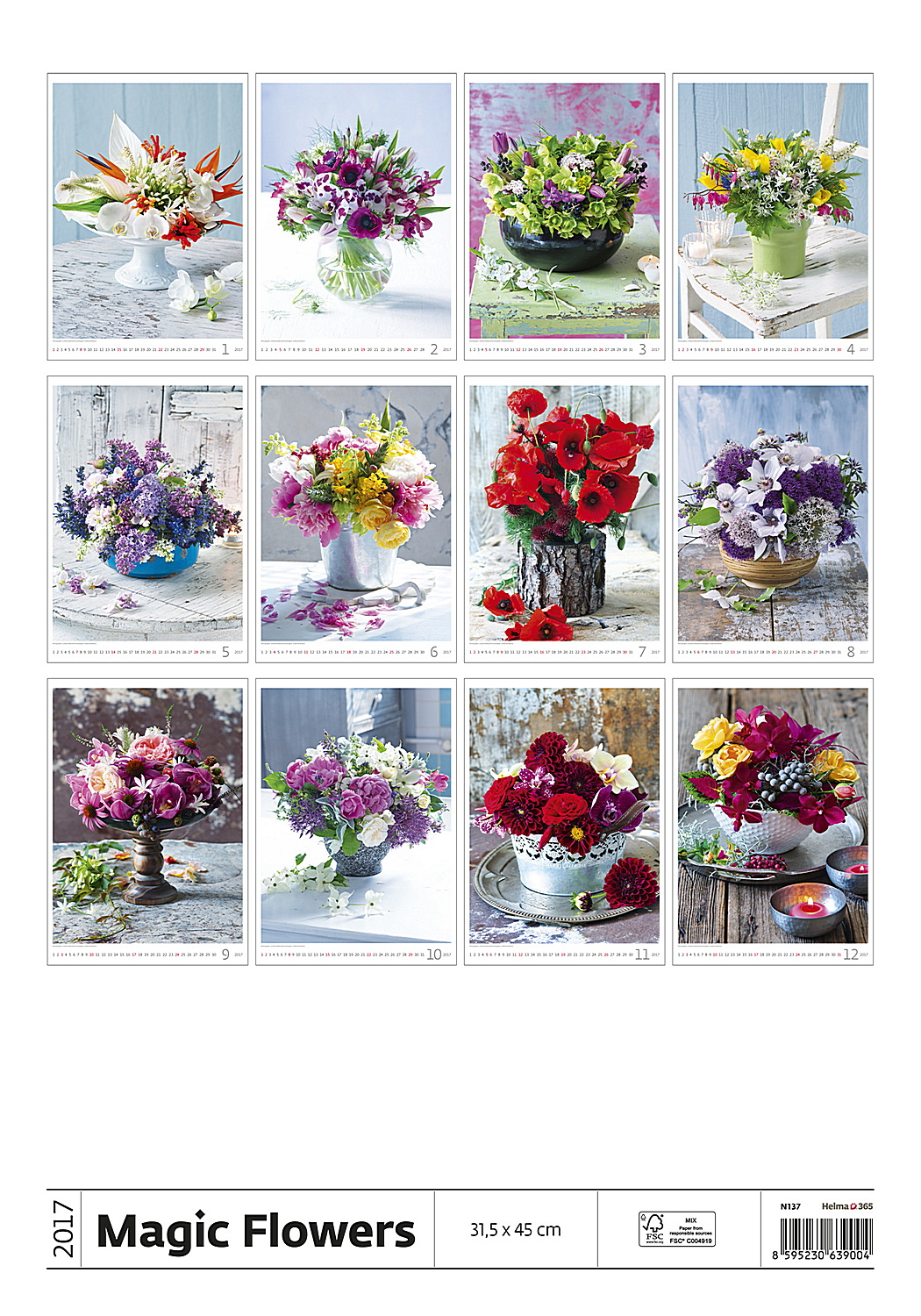 Calendar Flowers : Magic flowers calendar flower