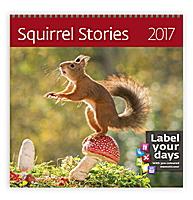 Squirrel Stories Wall Calendar 2017