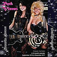 Rock Vixens Wall Calendar 2017