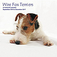 Wire Fox Terriers Wall Calendar 2017