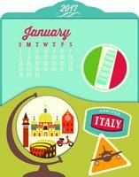 Around The World Easel Desk Calendar 2017
