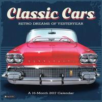 Classic Cars Wall Calendar 2017