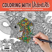 Coloring With Valentina Wall Calendar 2017