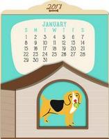 Doggone Cute Easel Desk Calendar 2017