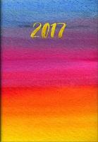 Gold Foil Watercolor Pocket Planner 2017