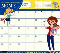 Mom's Magnetic Monthly Pad Calendar 2017