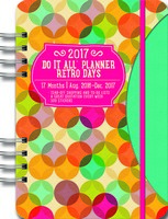 Retro Days Do It All Planner Calendar 2017