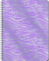 Silver Foil Waves Large Spiral Planner 2017