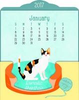 The Cats Meow Easel Desk Calendar 2017